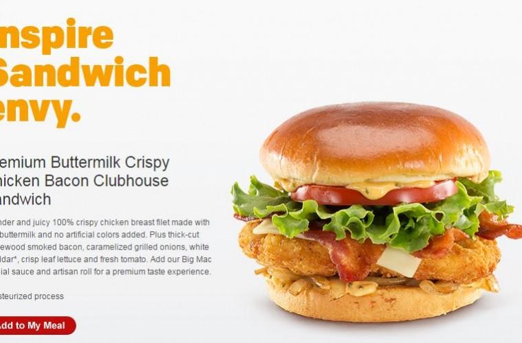 Mcdonald 39 s remixes chicken again with buttermilk crispy for Mcdonalds fish sandwich nutrition