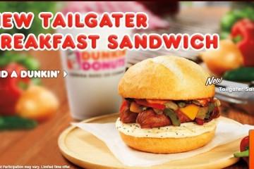 dunkin donuts tailgater sandwich