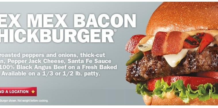 hardee u0026 39 s newest burger is the tex mex bacon thickburger