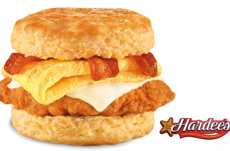 Hardee 39 s adds bacon swiss chicken biscuit with egg to for Hardee s fish sandwich