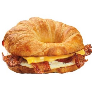 egg and cheese croissant dunkin donuts calories