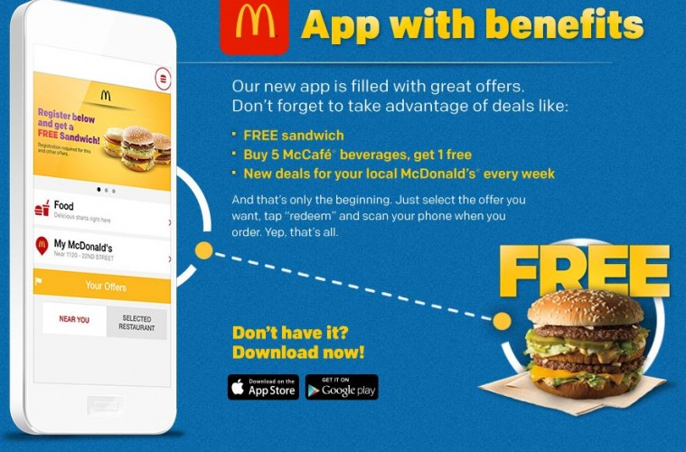 mcdonalds free offers