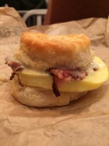 Arby's Brisket Biscuit Breakfast Sandwich