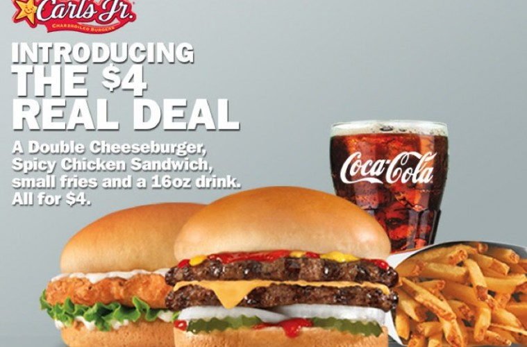 Hardees And Carls Jr Jump Into Value Meal Foray With The 4 Real Deal
