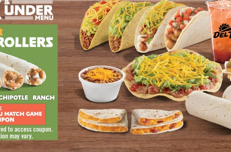 Del Taco Adds 2 New Chicken Rollers To Buck Under Menu Fast Food