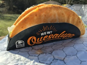 Fast Food Geek Taco Bell Quesalupa Review In holster