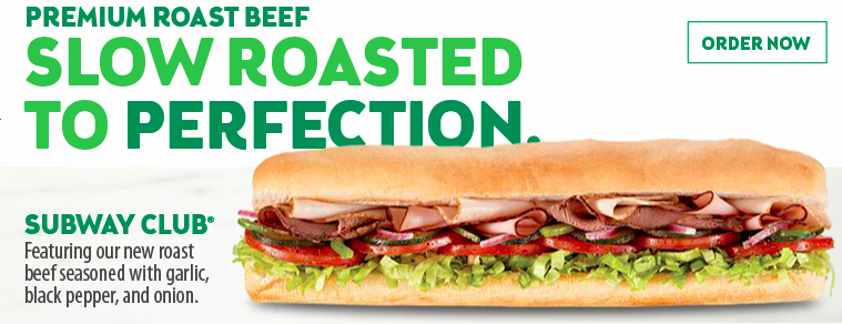 Subway upgrades to slow roasted beef fast food geek for Chick fil a fish sandwich 2017