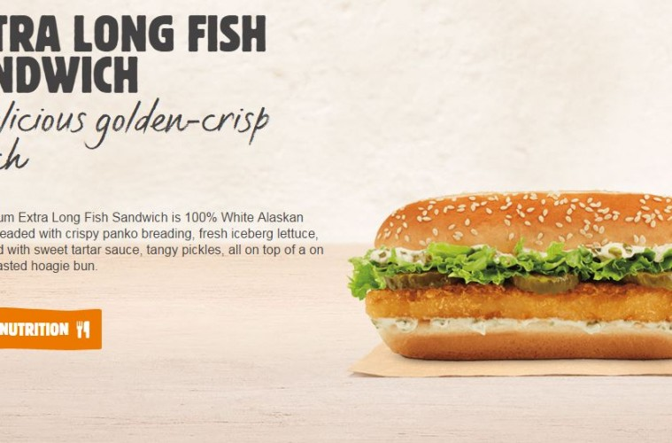 Burger king dumps big fish and lures in extra long fish for Burger king big fish