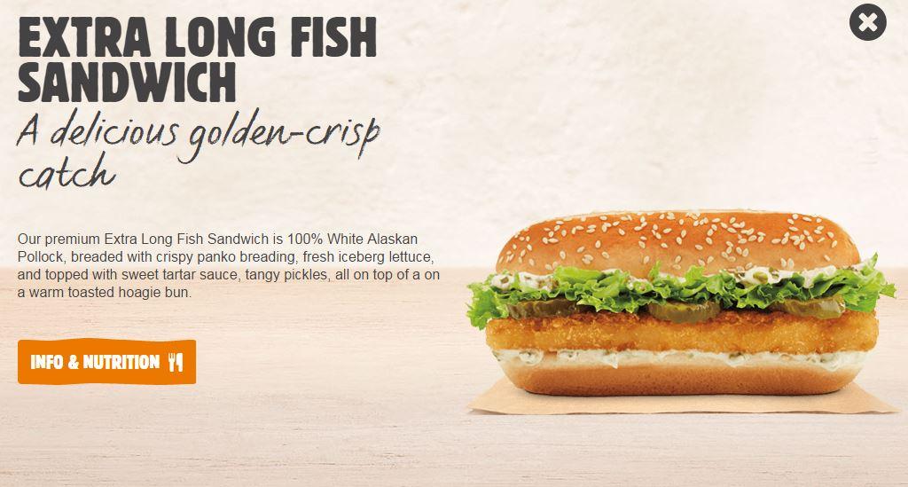 Bk fish fast food geek for Chick fil a fish sandwich 2017