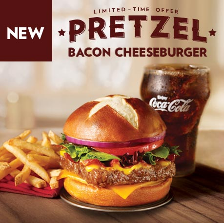 Wendy S Pretzel Bacon Cheeseburger Review Fast Food Geek