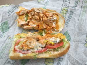 Subway Buffalo Chicken Crunch