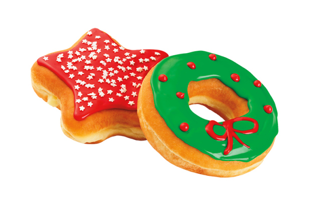 Dunkin-Donuts-Wreath-and-Star-Donuts