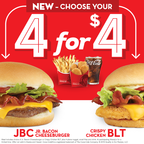 Wendy S Adds Chicken Blt Option To 4 For 4 Meal Fast Food Geek