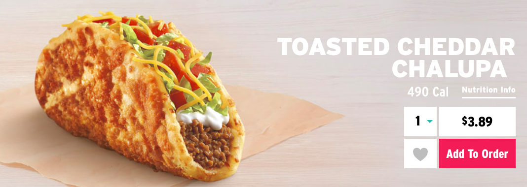 Taco Bell S Toasted Cheddar Chalupa Review Fast Food Geek